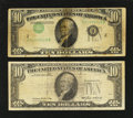 Error Notes:Error Group Lots, Fr. 2011-B $10 1950A Federal Reserve Note. Fine.. Fr. 2027-A $101985 Federal Reserve Note. Very Good.. ... (Total: 2 notes)