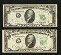 Error Notes:Miscellaneous Errors, Fr. 2011-A $10 1950A Federal Reserve Note. Very Fine.. Fr. 2011-G $10 1950A Federal Reserve Note. Very Fine.. ... (Total: 2 notes)