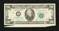Error Notes:Attached Tabs, Fr. 2076-I $20 1988A Federal Reserve Note. Choice AboutUncirculated.. ...