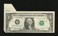 Error Notes:Foldovers, Fr. 1908-E $1 1974 Federal Reserve Note. Extremely Fine-AboutUncirculated.. ...