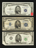 Error Notes:Error Group Lots, Mixed Lot of Three $5 Error Notes.. ... (Total: 3 notes)