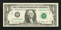 Error Notes:Miscellaneous Errors, Fr. 1909-K $1 1977 Federal Reserve Note. Very Choice Crisp Uncirculated.. ...