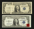 Error Notes:Error Group Lots, Fr. 1614 $1 1935E Silver Certificates. Two Examples. Choice CrispUncirculated and Very Fine.. ... (Total: 2 notes)