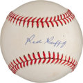 Baseball Collectibles:Balls, Red Ruffing Single Signed Baseball....