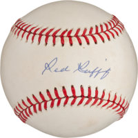 Red Ruffing Single Signed Baseball