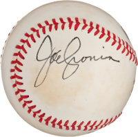 Joe Cronin Single Signed Baseball