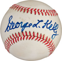 "George ""Highpockets"" Kelly Single Signed Baseball"