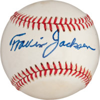Travis Jackson Single Signed Baseball