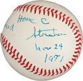 Baseball Collectibles:Balls, Horace Stoneham Single Signed Baseball....