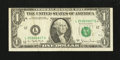 Error Notes:Miscellaneous Errors, Fr. 1910-L $1 1977A Federal Reserve Note. Very Fine.. ...