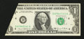 Error Notes:Attached Tabs, Fr. 1907-D $1 1969D Federal Reserve Note. Very Choice CrispUncirculated.. ...