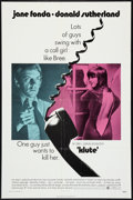 """Movie Posters:Thriller, Klute (Warner Brothers, 1971). One Sheet (27"""" X 41""""). Thriller.. ..."""