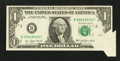 Error Notes:Foldovers, Fr. 1909-B $1 1977 Federal Reserve Note. Extremely Fine.. ...