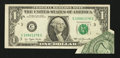 Error Notes:Attached Tabs, Fr. 1909-C $1 1977 Federal Reserve Note. Extremely Fine.. ...