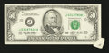 Error Notes:Attached Tabs, Fr. 2125-J $50 1993 Federal Reserve Note. Choice AboutUncirculated.. ...