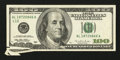 Error Notes:Attached Tabs, Fr. 2175-L $100 1996 Federal Reserve Note. Very Fine.. ...