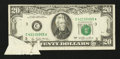 Error Notes:Foldovers, Fr. 2072-C $20 1977 Federal Reserve Note. Very Fine.. ...