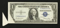 Error Notes:Attached Tabs, Fr. 1614 $1 1935E Silver Certificate. Very Fine-Extremely Fine.....
