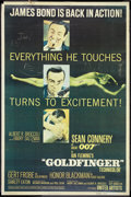 "Movie Posters:James Bond, Goldfinger (United Artists, 1964). Poster (40"" X 60""). James Bond....."