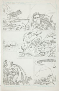 Jack Kirby Super Powers #5 Batman and Robin page 3 Pencils Original Art (DC, 1986)