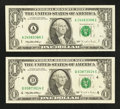 Error Notes:Error Group Lots, Fr. 1921-A $1 1995 Federal Reserve Note. Very Fine.. Fr. 1921-D $11995 Federal Reserve Note. Very Fine.. ... (Total: 2 notes)
