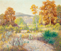 PETER LANZ HOHNSTEDT (American, 1872-1957) Untitled (landscape) Oil on canvas 25 x 30 inches (63