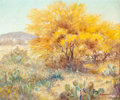 Texas:Early Texas Art - Regionalists, PETER LANZ HOHNSTEDT (American, 1872-1957). Untitled (CactiLandscape). Oil on canvas. 20 x 24 inches (50.8 x 61.0 cm). ...