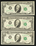 Error Notes:Ink Smears, Fr. 2018-B $10 1969 Federal Reserve Note. Very Fine;. Fr. 2026-B$10 1981A Federal Reserve Note. Very Fine;. Fr. 2027-B $10 19...(Total: 3 notes)
