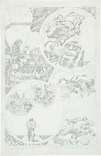 Jack Kirby Super Powers #5 Darkseid and the JLA page 2 Pencils Original Art (DC, 1986)