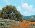 Texas:Early Texas Art - Regionalists, WILLIAM A. SLAUGHTER (American, 1923-2003). Hill Country.Oil on canvas. 8 x 10 inches (20.3 x 25.4 cm). Signed lower le...