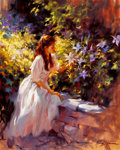 Western, FROM THE COLLECTION OF SUSAN & ALLEN COLES. RICHARD S. JOHNSON (American, 20th Century). In Sunshine Clad. Oil on canv...