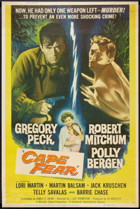 """Cape Fear (Universal, 1962). Poster (40"""" X 60""""). Thriller"""