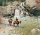 FROM THE COLLECTION OF SUSAN & ALLEN COLES  JOHN SCOTT (American, 20th Century) Waterfall Crossing, 1984 Oil on...