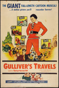 "Movie Posters:Animated, Gulliver's Travels (NTA, R-1957). Poster (40"" X 60""). Animated....."