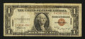Error Notes:Shifted Third Printing, Fr. 2300 $1 1935A Hawaii Silver Certificate. Very Good-Fine.. ...