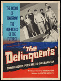 "Movie Posters:Exploitation, The Delinquents (United Artists, 1957). Poster (30"" X 40"").Exploitation.. ..."