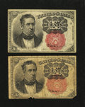 Fractional Currency:Fifth Issue, Fr. 1265 and 1266 10¢ Fifth Issue Notes.. ... (Total: 2 notes)