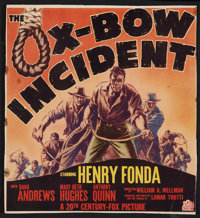 "The Ox-Bow Incident Lot (20th Century Fox, 1943). Window Card (13"" X 14"") and Belgium (14"" X 22""). W..."