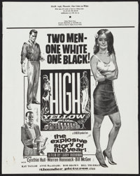 """High Yellow Lot (Thunder Pictures, 1965). 22"""" X 28"""" Poster and One Sheet (27"""" X 41""""). Exploitation..."""