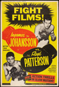 "Movie Posters:Sports, Johansson vs Patterson (United Artists, 1960). Poster (40"" X 60""). Sports.. ..."