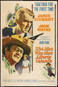 "Movie Posters:Western, The Man Who Shot Liberty Valance (Paramount, 1962). Poster (40"" X 60""). Western.. ..."