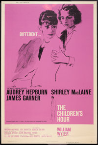 """The Children's Hour (United Artists, 1962). Poster (40"""" X 60""""). Drama"""