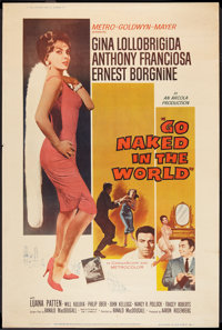 """Go Naked in the World (MGM, 1961). Poster (40"""" X 60"""") Style Y. Drama"""