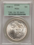 Morgan Dollars: , 1890-S $1 MS64 PCGS. PCGS Population (2671/728). NGC Census: (1903/351). Mintage: 8,230,373. Numismedia Wsl. Price for prob...