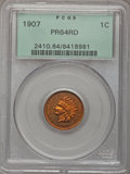 Proof Indian Cents: , 1907 1C PR64 Red PCGS. PCGS Population (16/33). Mintage: 1,475.Numismedia Wsl. Price for problem free N...