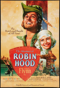 "The Adventures of Robin Hood (Turner Entertainment, R-2003). One Sheet (27"" X 41""). Swashbuckler"