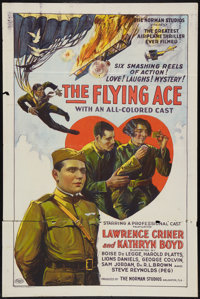 "The Flying Ace (Norman, 1926). One Sheet (27"" X 41""). Black Films"