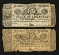 Obsoletes By State:Arkansas, Two (Little Rock), AR- Arkansas Treasury Warrants.. ... (Total: 2 notes)