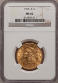 Liberty Eagles: , 1906 $10 MS62 NGC. NGC Census: (426/126). PCGS Population (257/160). Mintage: 165,497. Numismedia Wsl. Price for problem fr...