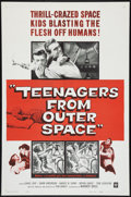 "Movie Posters:Science Fiction, Teenagers from Outer Space (Warner Brothers, 1959). One Sheet (27"" X 41""). Science Fiction.. ..."